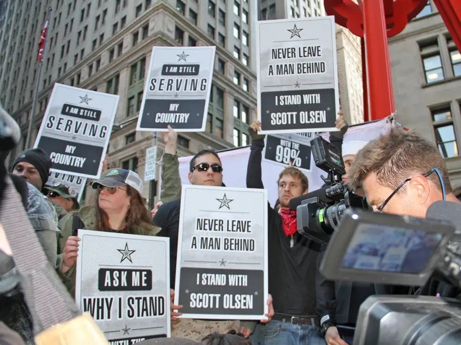 many more members of the press were in attendance compared to previous events Veterans Stand Up For Liberty: If You Continue To Assemble In Peace And Solidarity, Justice Will Come To Pass
