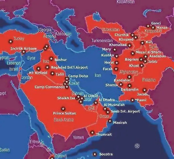 Image result for iran us military bases