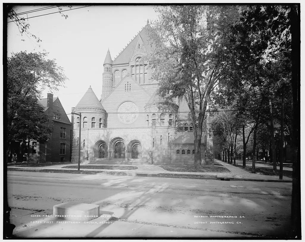 THE CHURCH: Right in the heart of the city on Woodward, First Presbyterian Church was built in 1889 and is now a Michigan State Historic Site.