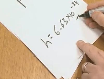 Planck's Constant: 6.626068 x 10^-34 m^2 kg/s