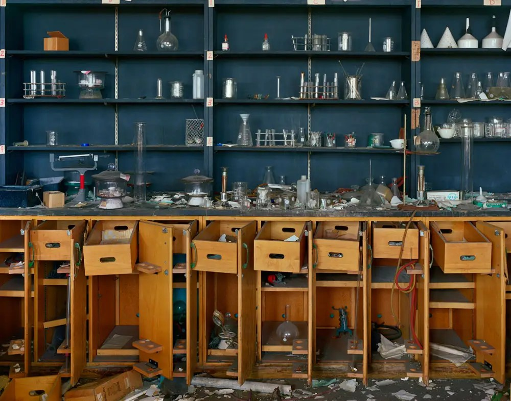 Chemistry lab, former Cass Technical High School building, 2009