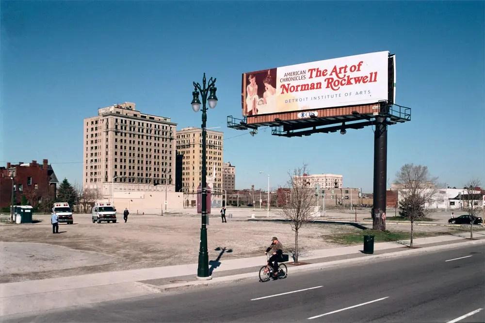 Woodward Avenue at Sibley Street, Detroit, 2009