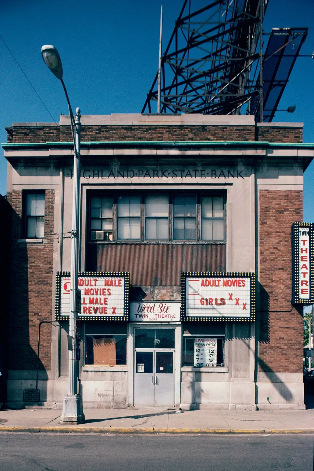 Former Highland Park State Bank (Wood Six Twin Adult Theater), 1993