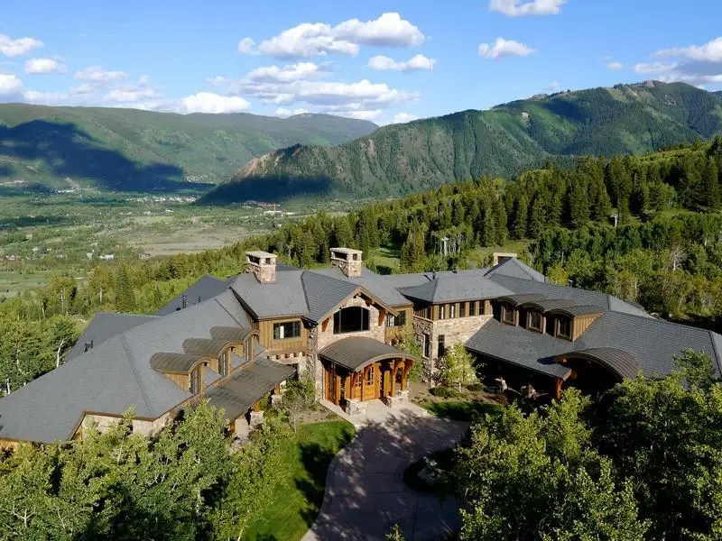 A home with access to Buttermilk Mountain in Aspen, Colo. is on sale for $17.85 million. The 12,000-square-foot home sits on nearly eight acres.