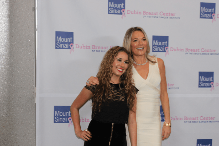 Singer-songwriter Haley Reinhart strikes a pose with Eva Andersson-Dubin.  Reinhart placed third in the tenth season of 'American Idol.'