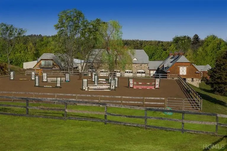 This Bedford Hills, New York horse farm is listed for $11 million and offers 38 stalls on 31 acres of land.