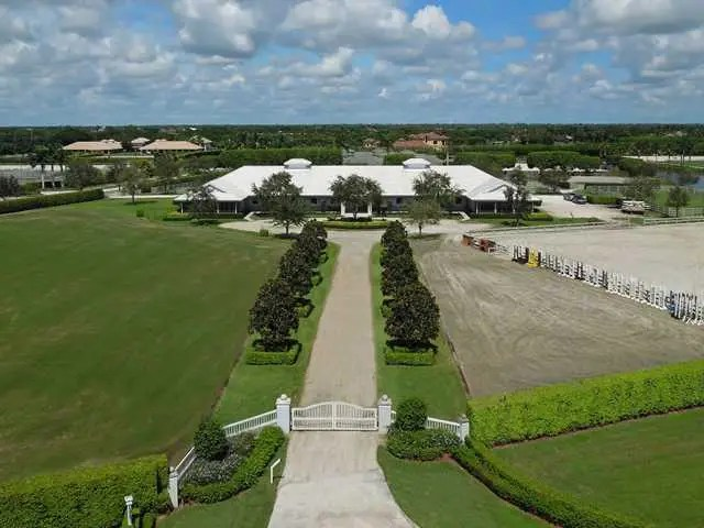 This farm in Wellington, Florida was built in 2000 and is listed for $15.9 million.