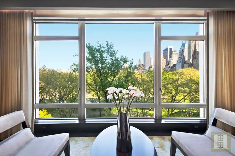 It has 3,454 square feet, with views of Central Park outside the windows.