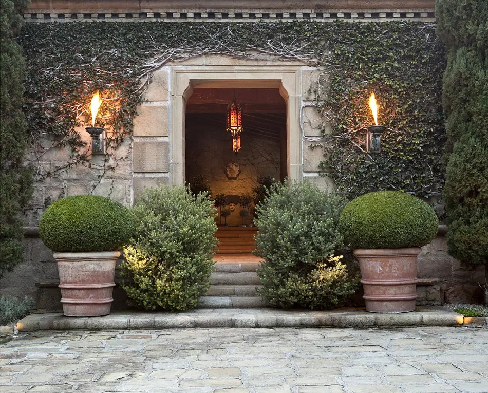 The Tuscan-style estate sits on 13 acres of property.