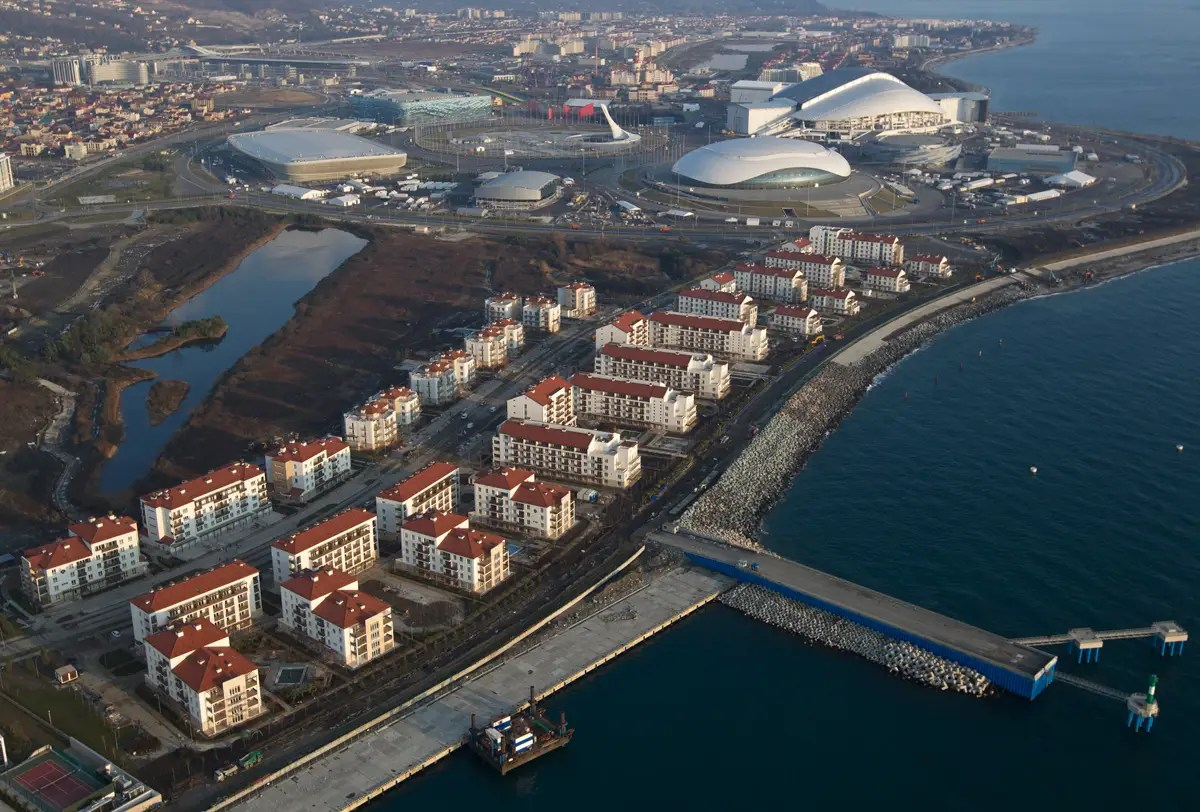 Before And After Of The Sochi Olympic Park Shows