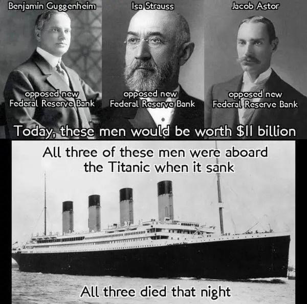Federal Reserve Titanic Verschwörung