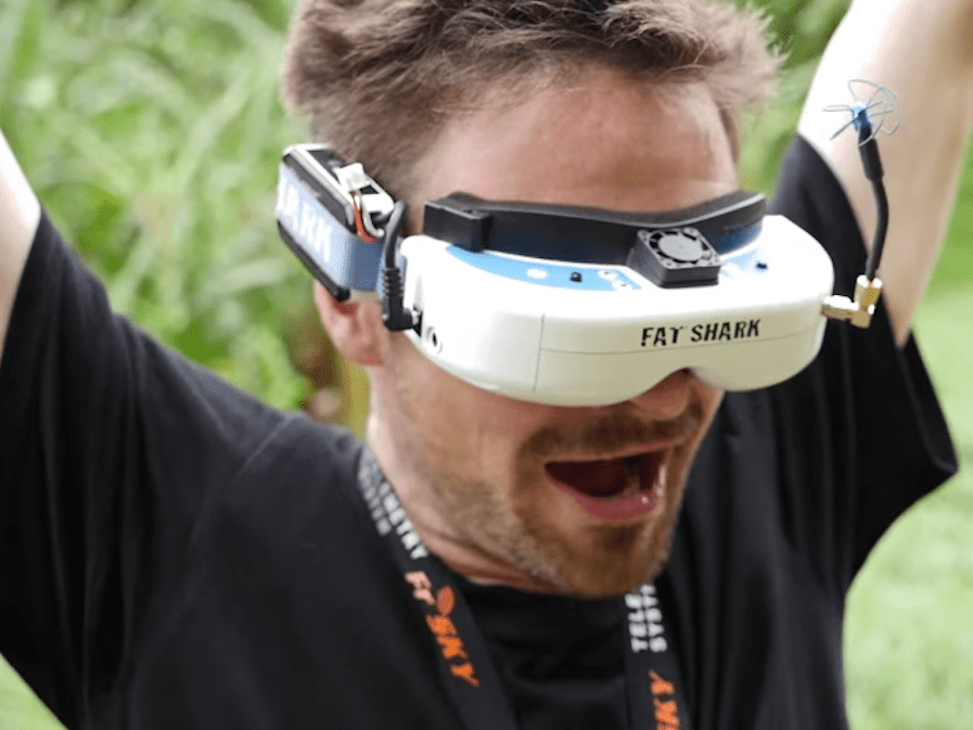 Drone racing first person goggles
