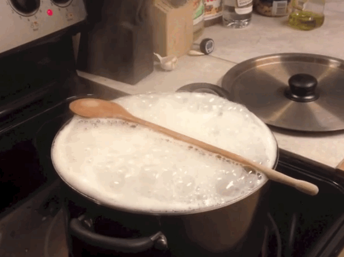 3. Wooden spoons don't stop pots of water from boiling over.