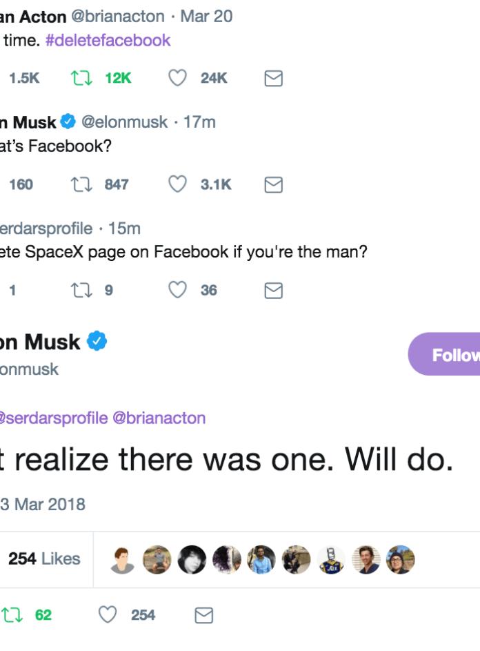 Musk Twitter exchange