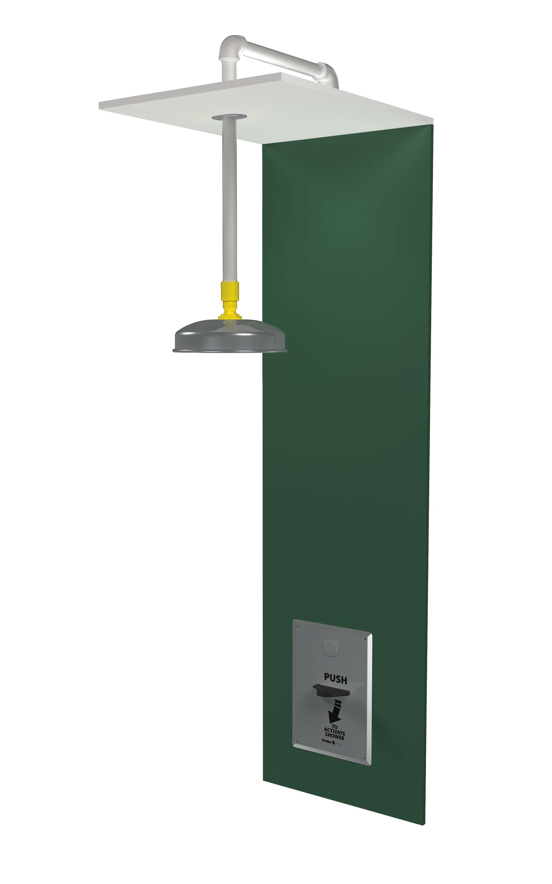 Bradley S19 125sbf Barrier Free Recessed Drench Shower With