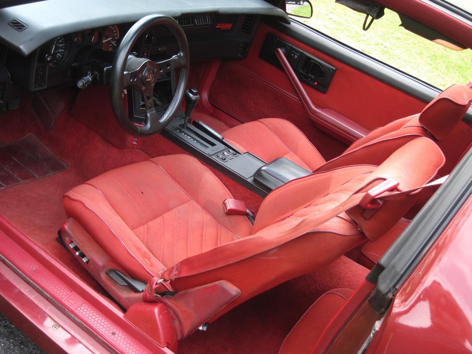 Iroc Camaro Z 1987 Options Interior