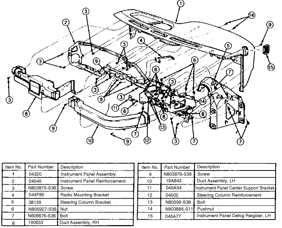 Gmc Savana Cargo Van Parts Diagram