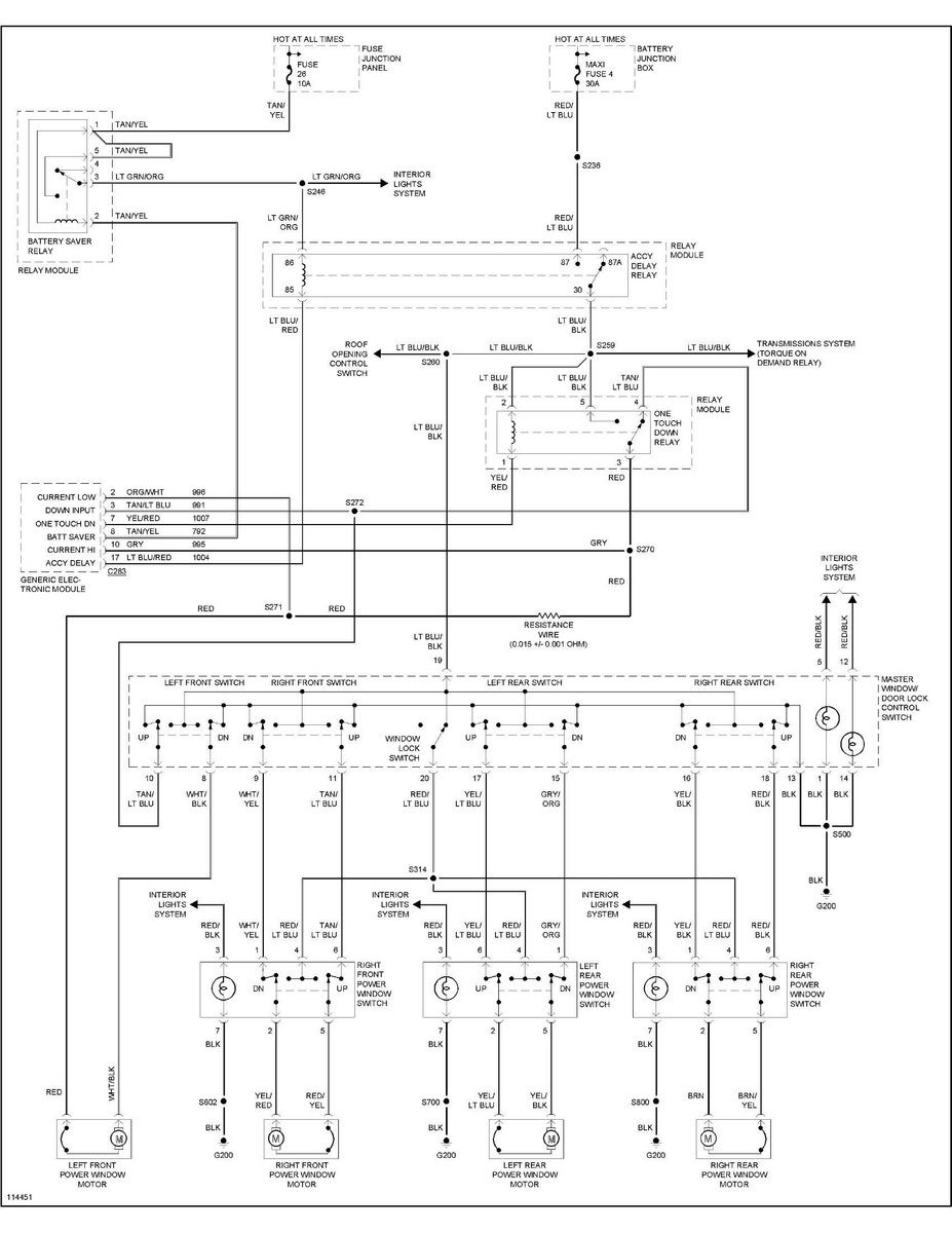 Explorer Rear Window Wiring Diagram 1997 Ford Vinifmdu34e2vzb41731 All 4 Power Windows