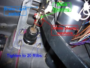 Ford Ranger Questions  when I apply break break lights stay on what could be the case of this