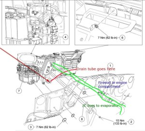 Ford F150 Questions  Where is the AC condensate drain tube located?  CarGurus