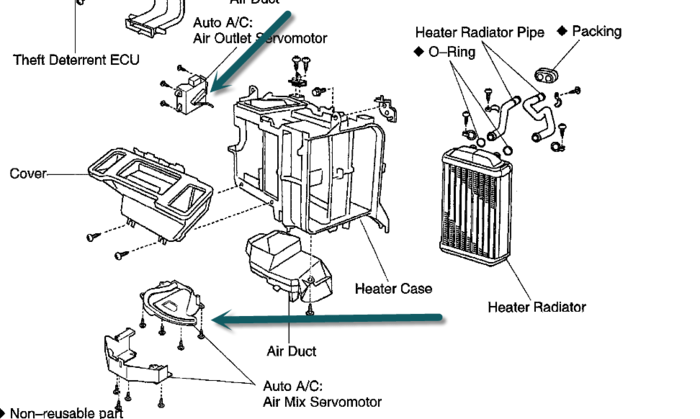 2001 f150 heater hose diagram