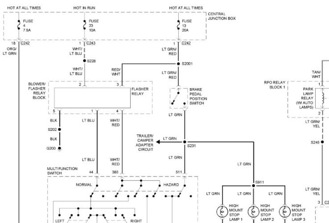 2000 ford expedition turn signal wiring diagram  96