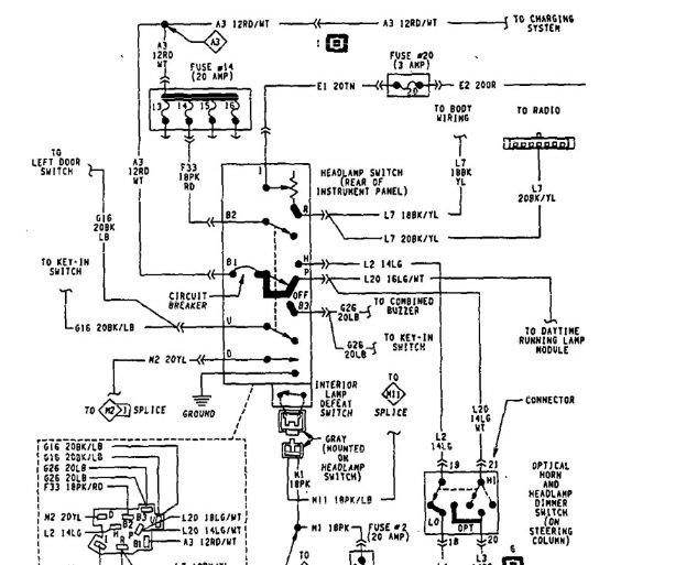 diagram 1998 dodge ram headlight switch diagram full