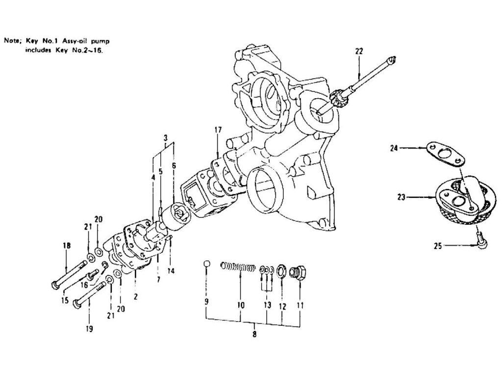 Datsun Z Oil Pump L24 L26 To Nov 74
