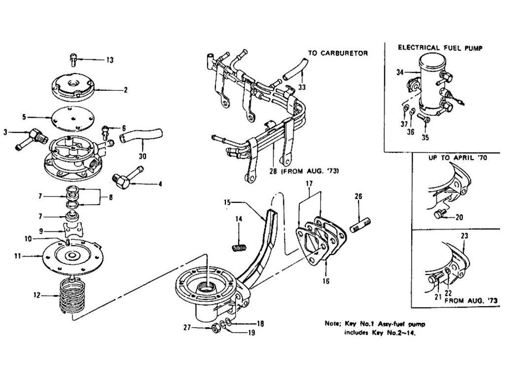 Datsun Z Fuel Pump Amp Tube Index