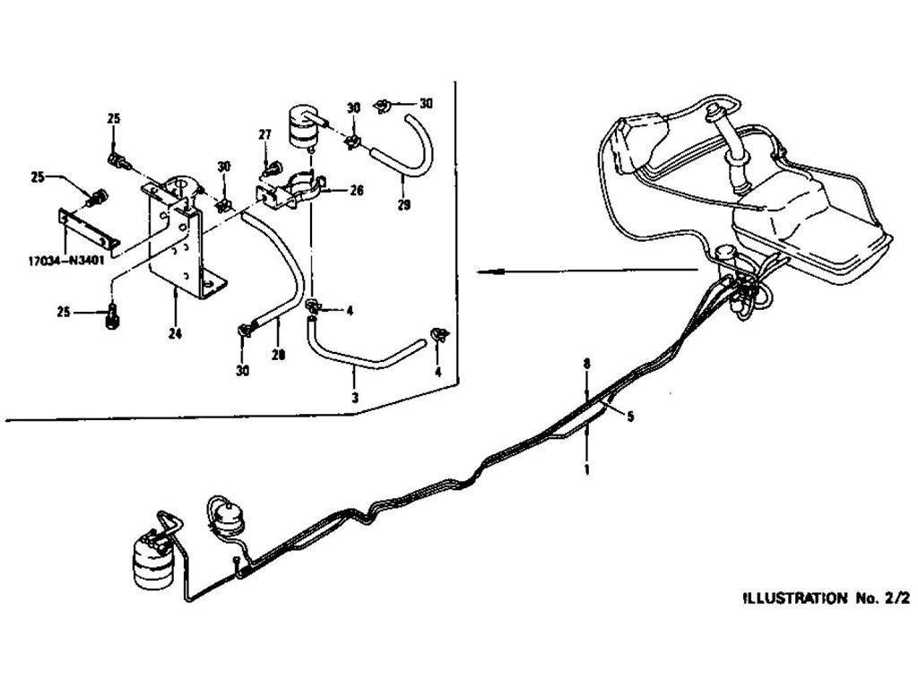 Datsun Z Fuel Piping L24 L26 To Nov 74