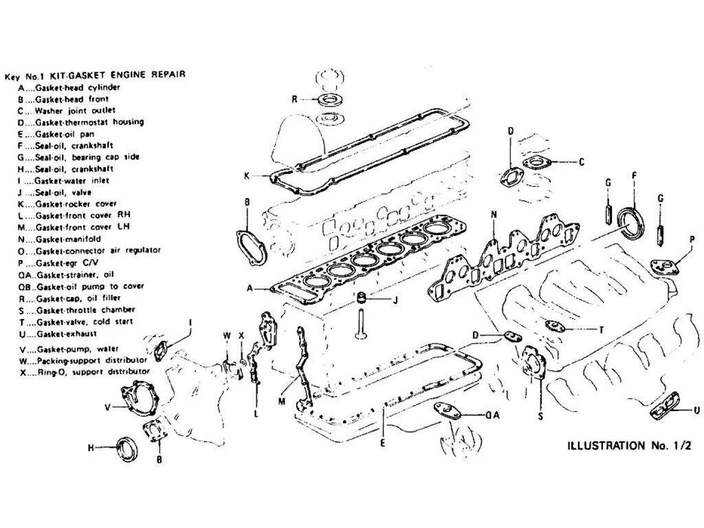 Datsun Z Engine Gasket Kit L28e