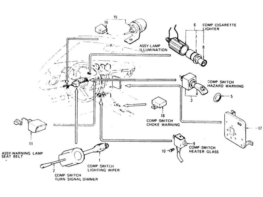 Datsun Z Electric Unit Amp Switch 2 To Jul 73