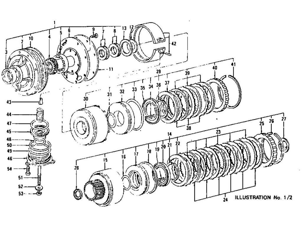 Datsun Z Oil Pump Clutch Amp Brake Automatic 3n71b From Apr 71