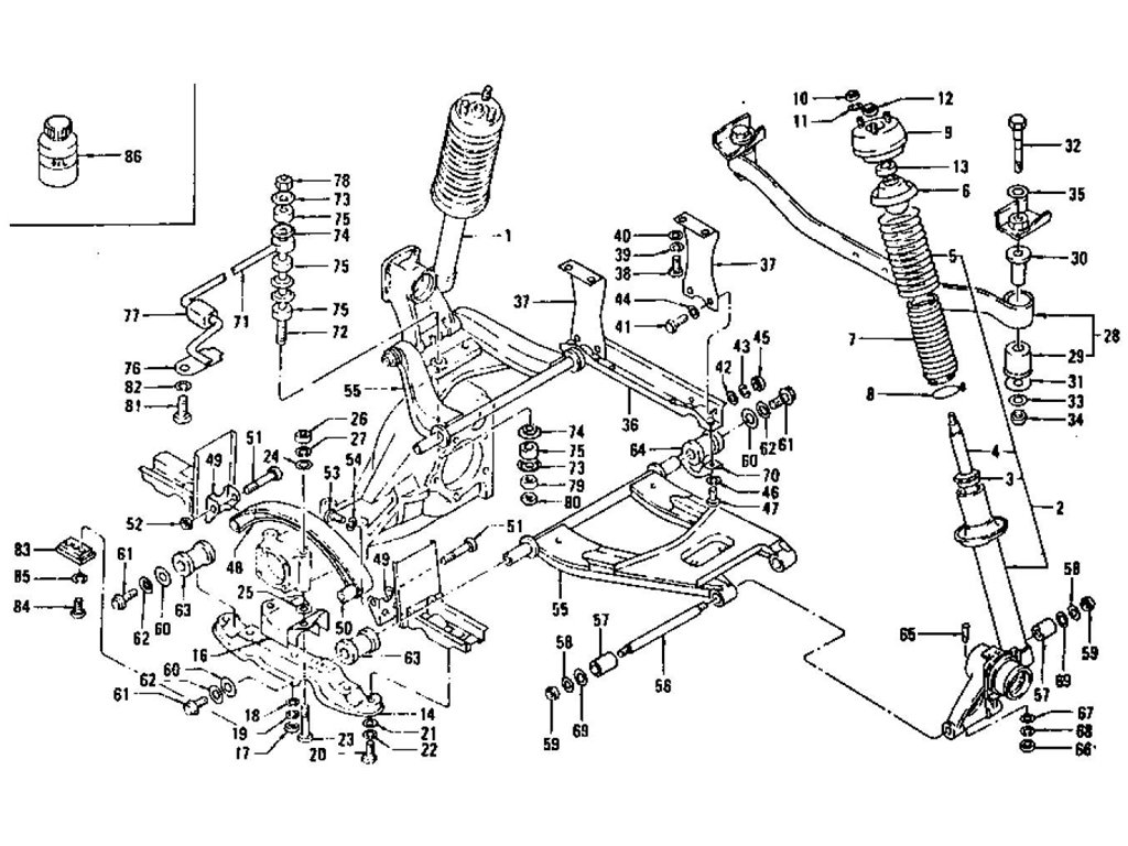 Datsun Z Rear Suspension Strut Shock Absorber