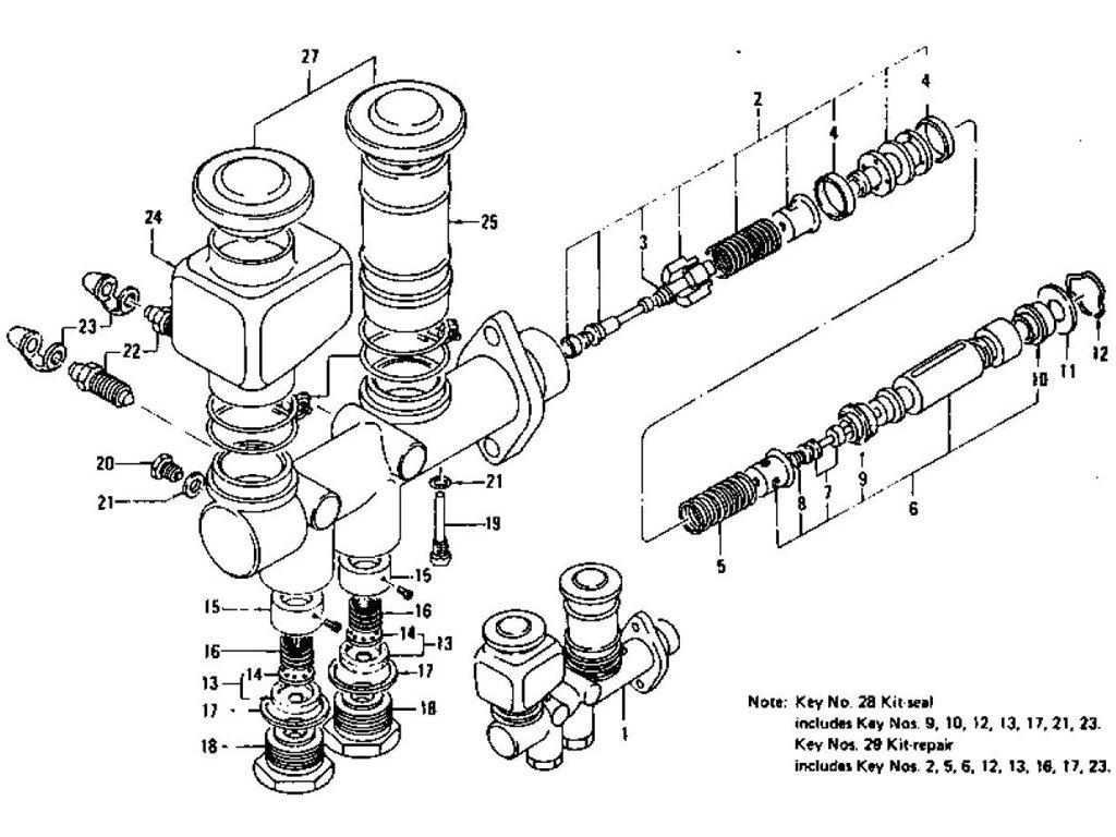 Datsun Z Brake Master Cylinder Tandem To Aug 71