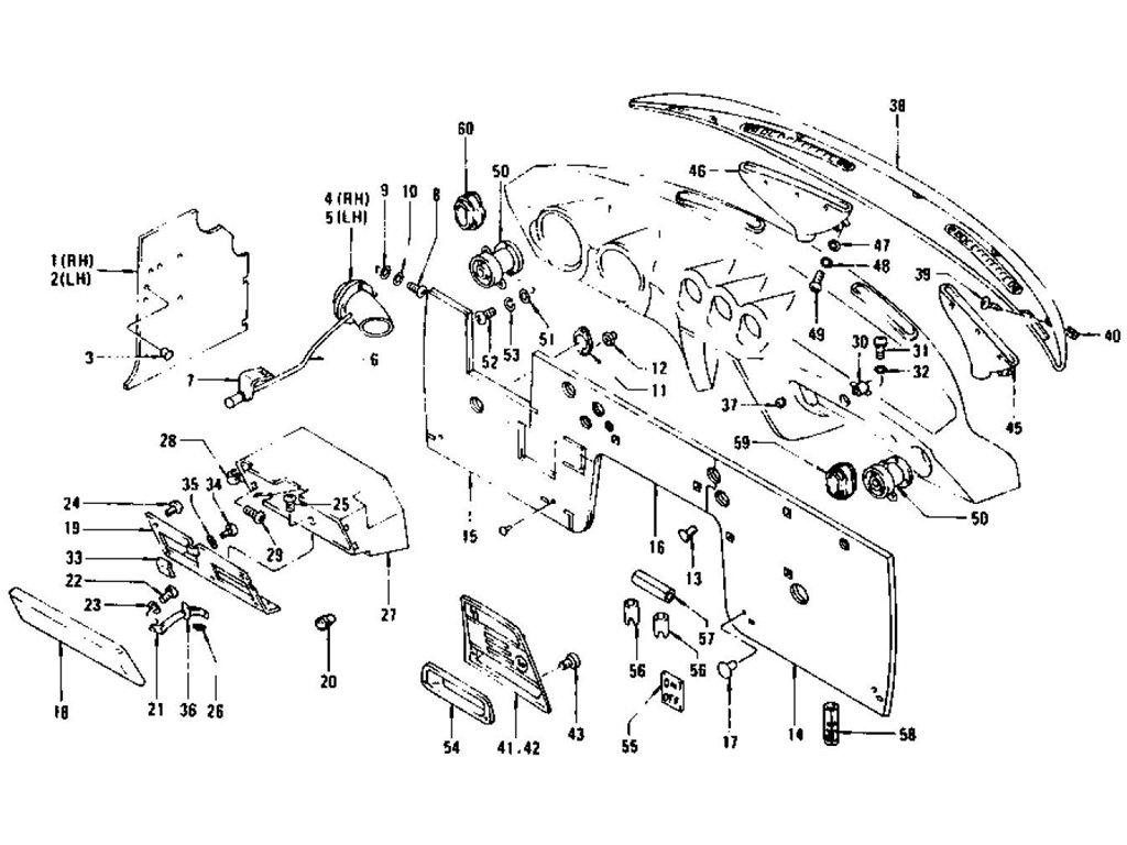 Datsun Z Dash Side Trim Insulator Amp Glove Box To Jul 73