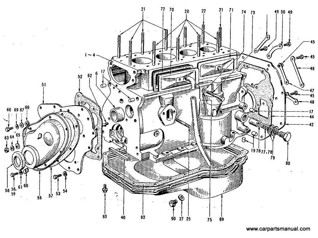 Datsun Bluebird 410 Cylinder Block