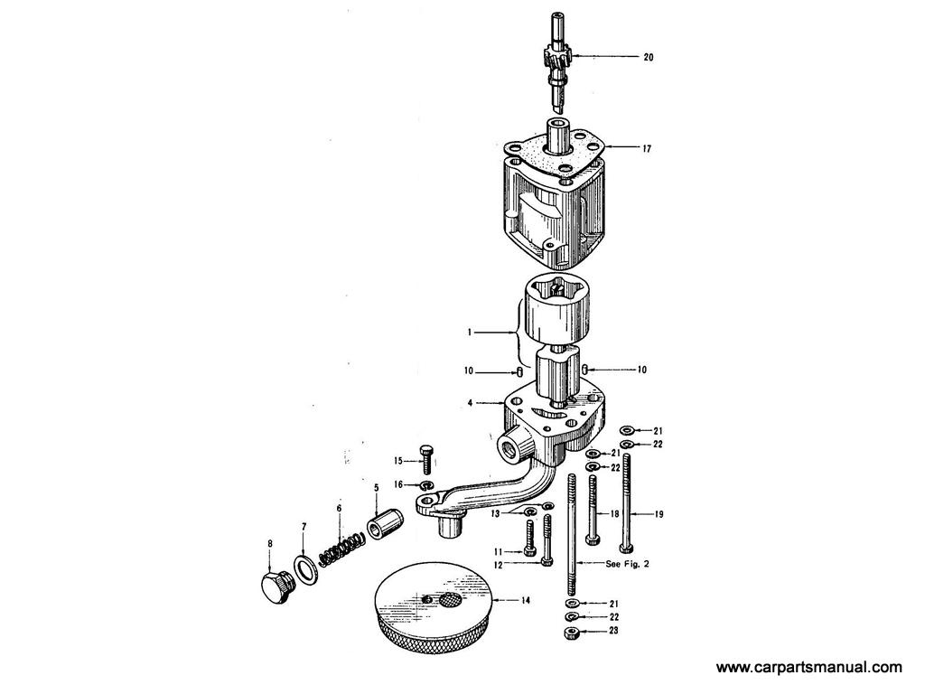 Datsun Bluebird 410 Oil Pump From E E1