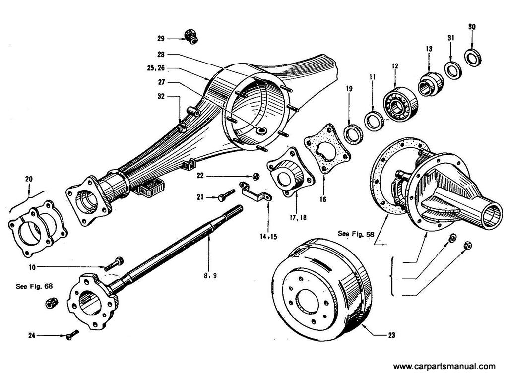 Datsun Bluebird 410 Rear Axle