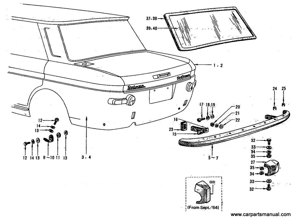 Datsun Bluebird 410 Rear Fender Amp Bumper