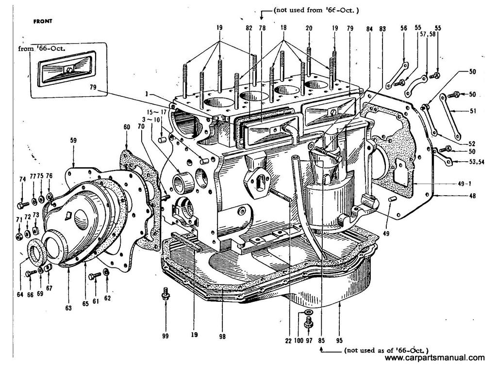 Datsun Bluebird 411 Cylinder Block 1 3l