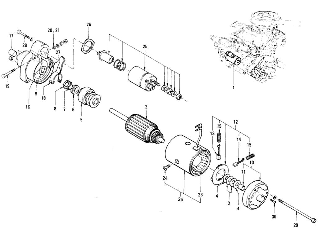 Datsun Roadster 1600 Starter Wiring Harness. . Wiring Diagram on