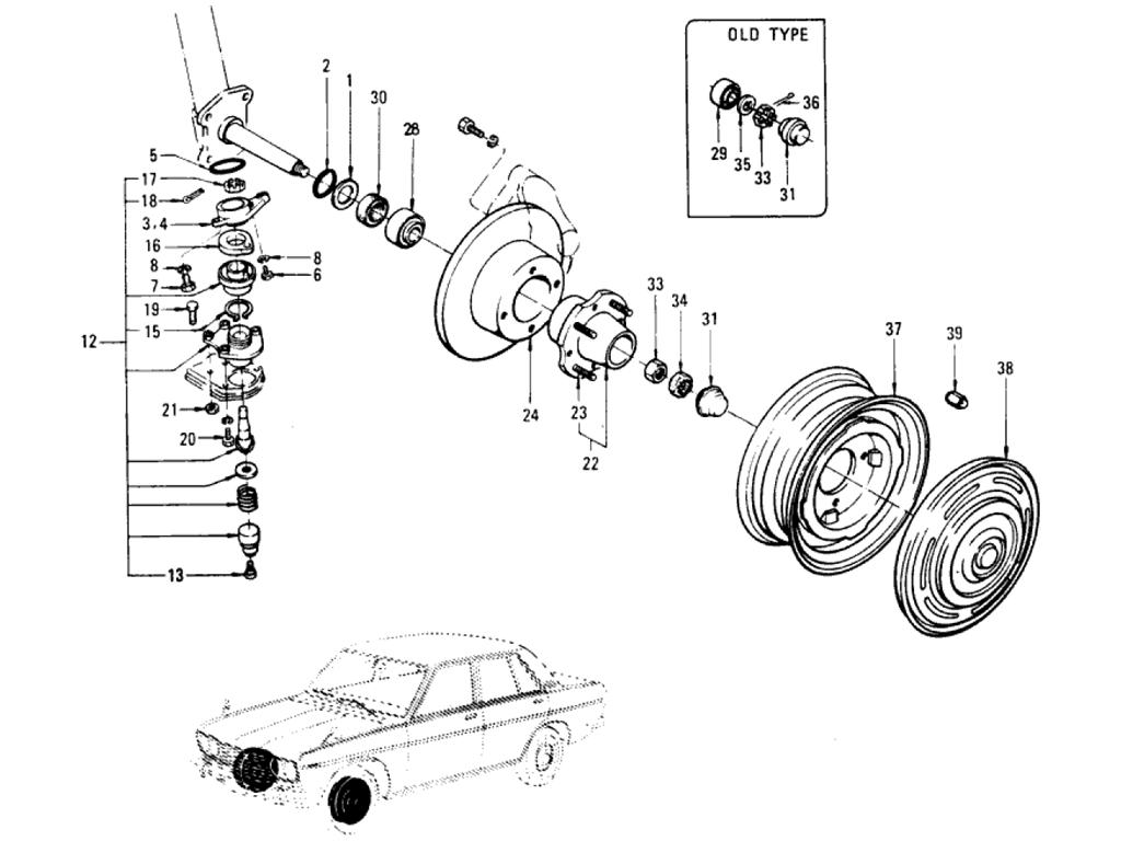 Datsun 510 Front Axle Amp Suspension