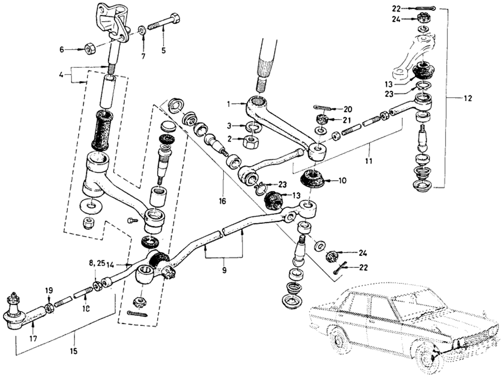 Datsun 510 Steering Linkage