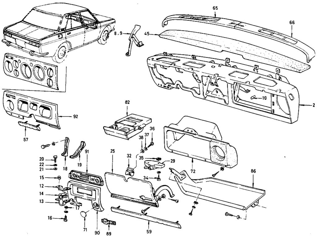 Datsun 510 Instrument Panel Sedan