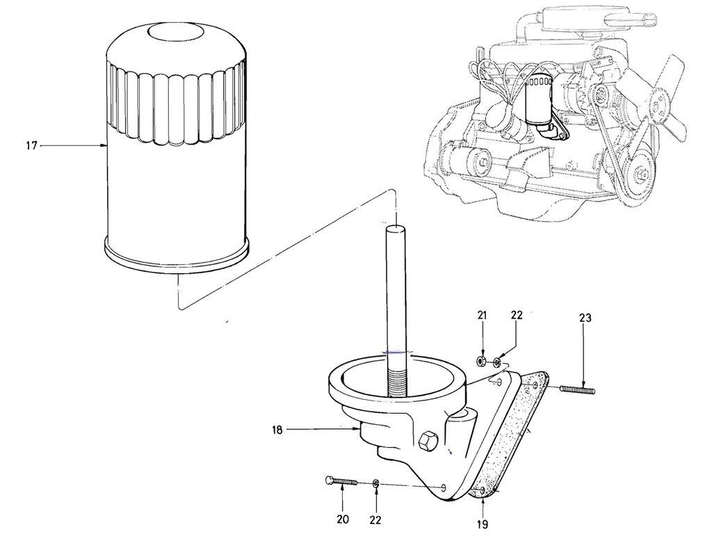 Datsun Pickup 520 521 Oil Filter J13