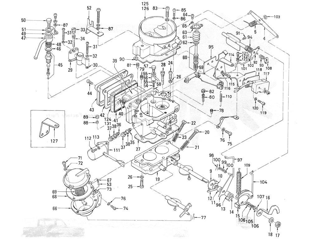 Datsun Pickup 520 521 Carburetor Hitachi To May 71