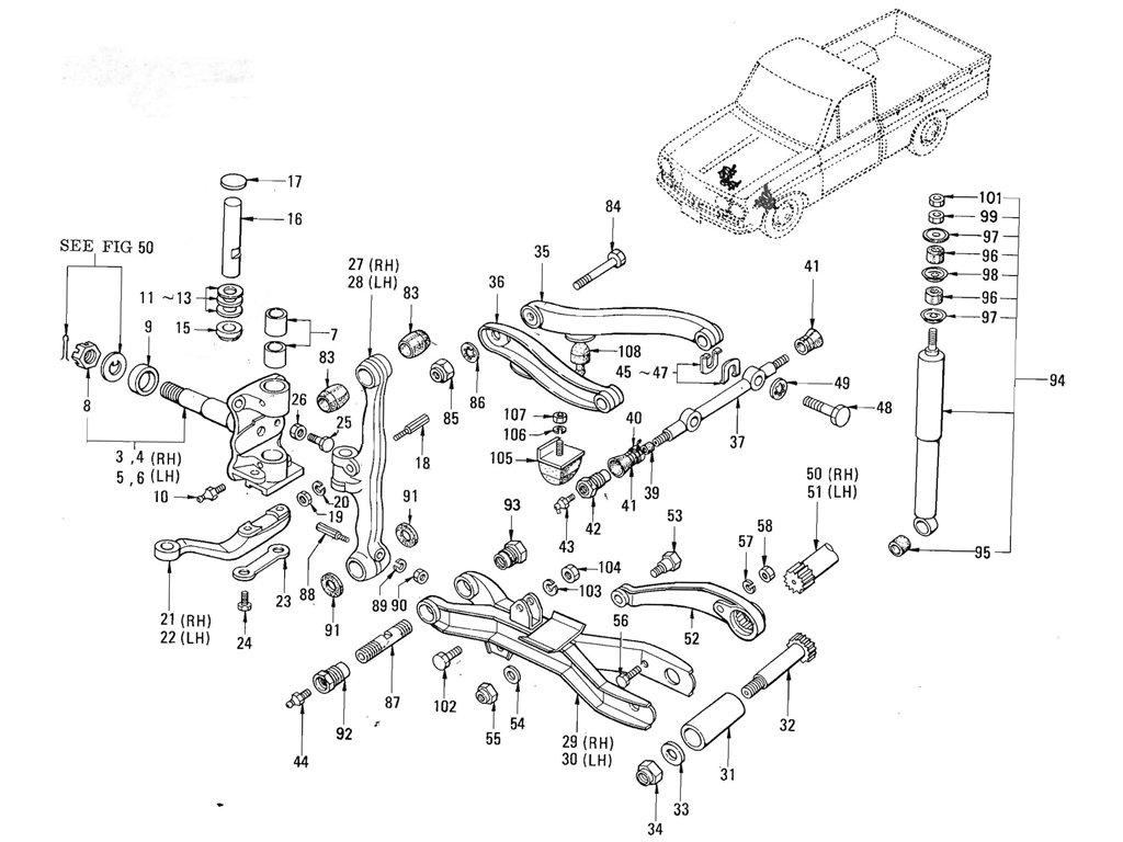 Datsun Pickup 520 521 Axle Amp Suspension Index