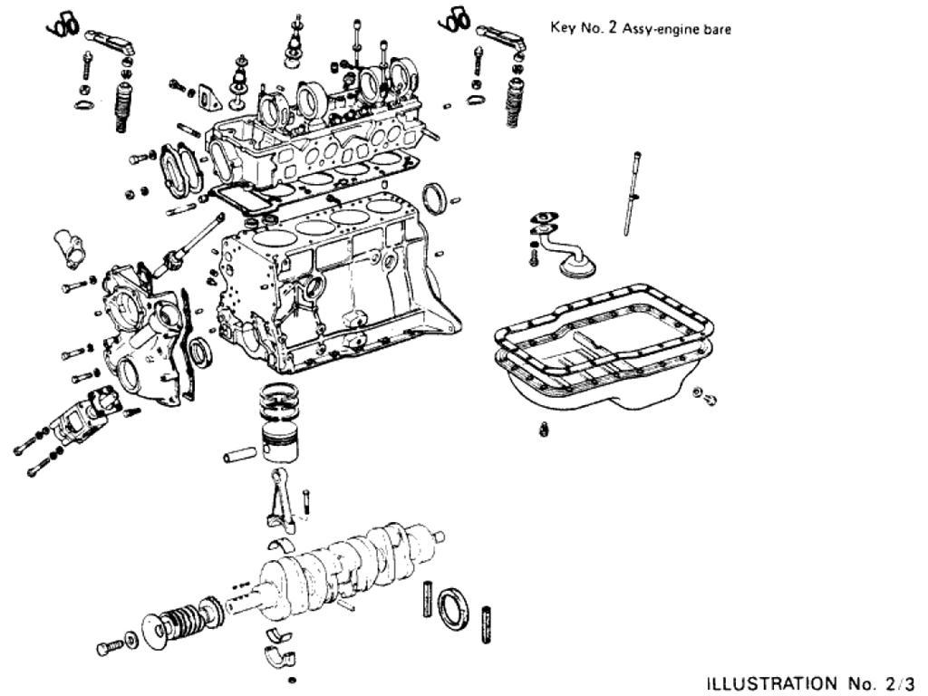 Datsun Pickup 620 Engine Assembly L20b
