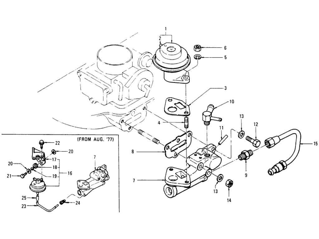 Datsun Pickup 620 Egr Parts L20b